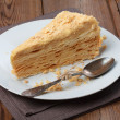 Stock Photo: Slice of layer cake