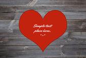 Heart shape in vintage wooden background — Stockfoto