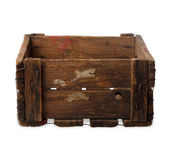 Vintage empty wooden crate — Stock Photo