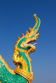 Typical traditional dragon sculpture at Wat Plai Laem temple, Thailand — Stock Photo