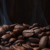 Coffee beans roastin — Stock Photo
