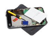 Tablet computer repair — Stock Photo