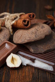 Chocolate assorment — Stock Photo