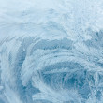 Постер, плакат: Frosty ice pattern