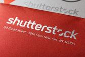 Large Shutterstock Corporation logo — Stock Photo