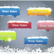 Set of Vector Button - Winter Web Elements — Vettoriali Stock