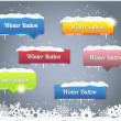 Set of Vector Button - Winter Web Elements — Imagen vectorial