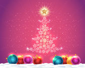 Merry Christmas Vector Background — Stock Vector