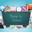 Back to School Vector Design — Vettoriale Stock #12619937