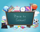 Back to School Vector Design — Vettoriale Stock