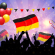 Stock Vector: National Celebration Vector Germany