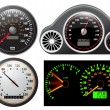 ストックベクタ: Set of vector speedometer