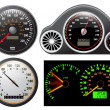 Stock Vector: Set of vector speedometer