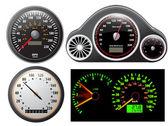 ベクトルのスピード メーターのセット — ストックベクタ