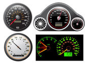 Set of vector speedometer — Vettoriale Stock