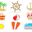 Summer icon set 1 vector — Stock Vector