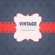 Vintage Invitation Card Vector Design — Grafika wektorowa