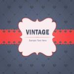 Vintage Invitation Card Vector Design — Stock Vector