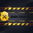 Under Construction Metallic Background Vector Design — Image vectorielle