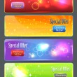 Web banner vector set — Stock Vector