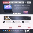 Website design vector elements — Stockvectorbeeld