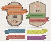 Placas vintage vector diseño — Vector de stock