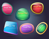 Set of colorful vector Icon Banner Shape — Cтоковый вектор