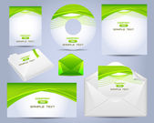 Corporate Identity Template Vector Design Eco Style — Cтоковый вектор