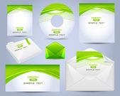 Corporate Identity Template Vector Design Eco Style — Stock Vector