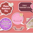 collection of speech bubbles valentine's day vector — Stock Vector