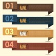 Vector Background Number Options Banner & Card — Stockvektor  #12678345