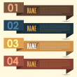 Vector Background Number Options Banner & Card — Διανυσματικό Αρχείο #12678345