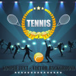 Tennis Shield Vector Design — Vettoriale Stock #12679277