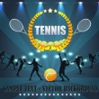 Tennis Shield Vector Design — Stockvektor #12679277