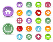 Multicolored Vector Icon Set 01 — 图库矢量图片