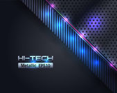 Hi-Tech Metallic Background Vector Design — Stock Vector