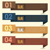 Vector Background Number Options Banner & Card — Vettoriale Stock