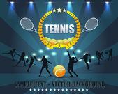 Disegno vettoriale scudo di tennis — Vettoriale Stock