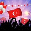 National Celebration Vector Turkey - Imagen vectorial
