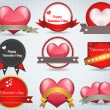 Valentijn sticker hart vector — Stockvector  #12680624