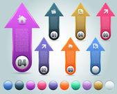 Vector Background Number Options Banner & Card — Stockvektor