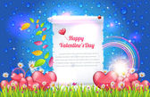 Valentine Day Hintergrund Vektor — Stockvektor