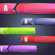 Abstract abc Page Banner Vector Background Design — Grafika wektorowa