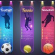 Sport Banner Vector Design — Stock Vector