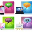 Web Banner Template Vector Design Set — Stock vektor