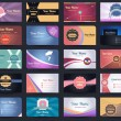 图库矢量图片: 20 Premium Business Card Design Vector Set - 03