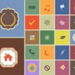 Royalty-Free Stock Vector Image: Vintage Style Multicolored Web Icon Set 03