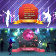 Dance Party Banner Background Flyer Templates Vector Design — Vettoriale Stock #12726638