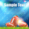 Stock Vector: American Football Theme Vector Design