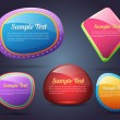 Set of colorful vector Icon Banner Shape — Stock vektor